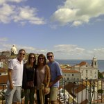 Mr. Miller and his friends, enjoying one of Lisbon's best views