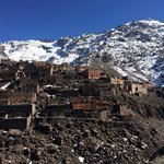 A hike in the Atlas Mountains while staying at Kasbah Tamadot