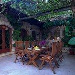 The heart of Villa Nina - our courtyard