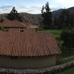 View of main lodge from room balcony