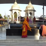 The founder and his wife 's samadhi