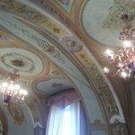Il soffitto con gli affreschi