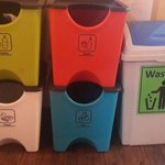 the recycled bins