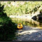 Split your time equally, kayaking and hiking