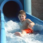 having fun on the slide