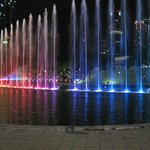 Sound and Light Fountain Show Outside KLCC in the Night -1