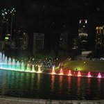 Sound and Light Fountain Show Outside KLCC in the Night -2