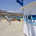 Kite Mykonos club on Korfos beach