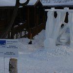 Winter Tracks Snow Sculpture 2014