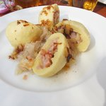 Dumplings with smoked pork and cabbage