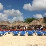 Beach and Cabanas