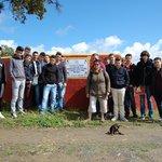 Con un grupo de estudiantes franceses en una visita a ganaderia de toros bravos