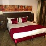 Bed in room, Building 4
