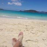 chilling on cinnimon bay beach