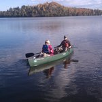 Canoes available for rent on inland lakes.
