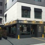 DINEHALL on first floor of hotel building.  This is how you find the hotel from the street.