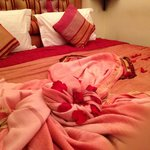 Bed in Rose room