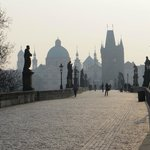 Early morning photo on near deserted Charles Bridge