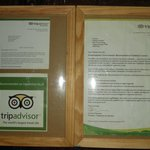 """we earned a """"Recommended on TripAdvisor"""" sticker thanks to you guys :)"""