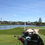 Hall of Fame Golf Challenge tee off and island green