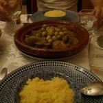 Tajine du soir - Agneau olives