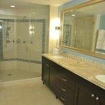 Master bathroom with duel vanity and huge shower