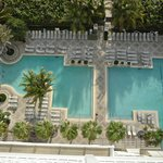pools viewed from balcony