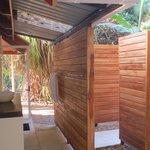 outdoor shower & sink