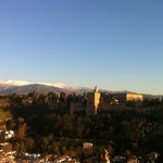 Amazing view on the Alhambra and Sierra Nevada in the sunset