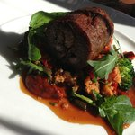 Lamb served with Cous Cous & Spinach