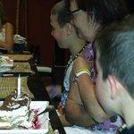 My sons birthday cake at jade restaurant