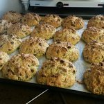 Rock cakes fresh out of the oven
