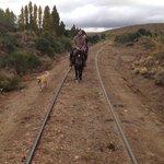 Walking along the train tracks