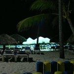 Vista noturna da praia