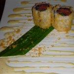 Sushi on mayonnaise