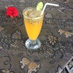 Fresh passionfruit juice, yum