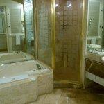 HALF of the bathroom