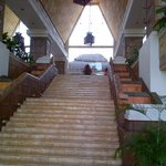 stairs leading up to lobby/bar