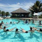 aula de hidro na piscina