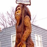 The Big Foot statue out front
