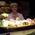 boat of fresh sushi & sashimi