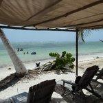 Our pergola at Maya Chan Beach