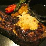 Amazing pork chop w/truffle butter