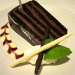 Four-layer chocolate cake