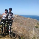Single Track Bike Trail with Catalina Islands in background