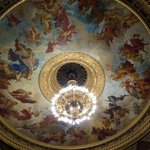 State Opera House - ceiling fresco and chandelier