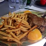 Steak with French fries