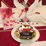 surprise honeymoon set-up