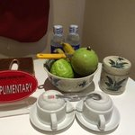 complimentary water & fruits