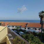 Blick vom Balkon in Richtung Meer